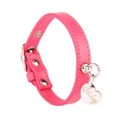 Chihuy - Pink and Silver Leather Collar