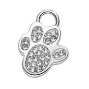 Magnetix-Wellness - Sparkly Diamond Paw Dog Collar Pendant