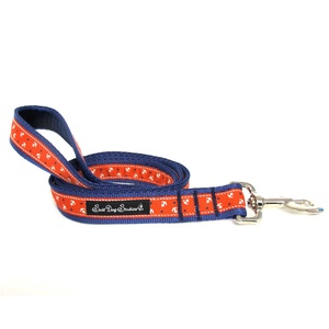 Little Sailors Red on Navy Dog Lead