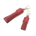 Grape Leather Tassel Clip 2