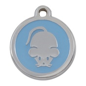 Tagiffany - My Sweetie Light Blue Mouse Pet ID Tag