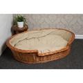 Wicker Pet Basket with Cream Cushion 3