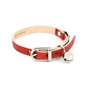 Linny - Red Leather Cat Collar