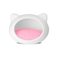 White Cat Cave with Pink Cushion 2