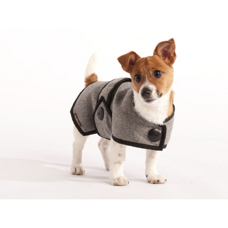 Grey Wool Blazer Dog Coat 4