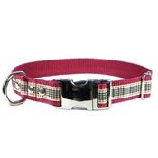 CanineAllStars - Scottish Blackberry Tartan Dog Collar – Burgundy