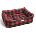 Red & Grey Tartan Dog Bed