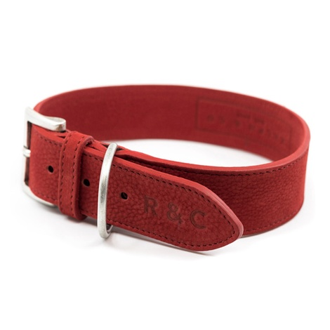Nubuck dog collar - Como 2