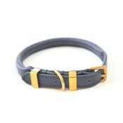 Teddy Maximus - The Hattie Luxury Rolled Leather Dog Collar