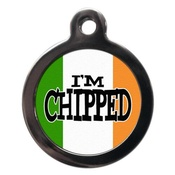 PS Pet Tags - I'm Chipped Irish Flag Pet ID Tag