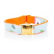 Pet Pooch Boutique - Pineapple Collar - On Gold