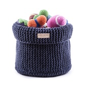 Bowl&Bone Republic - Cotton Toy Basket - Navy