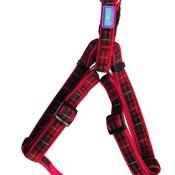 Hem & Boo - Tartan Adjustable Dog Harness - Red