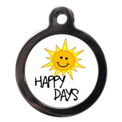 PS Pet Tags - Happy Sunny Days Dog ID Tag
