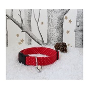 The Spotted Dog Company - Red Spot Dog Collar with Christmas Jingle