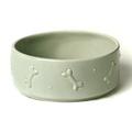 Ceramic Dog Bowl - Sage Green 3