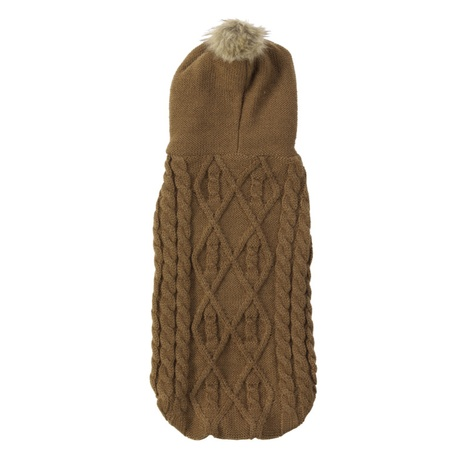 Cable Knit Dog Hoody – Coco