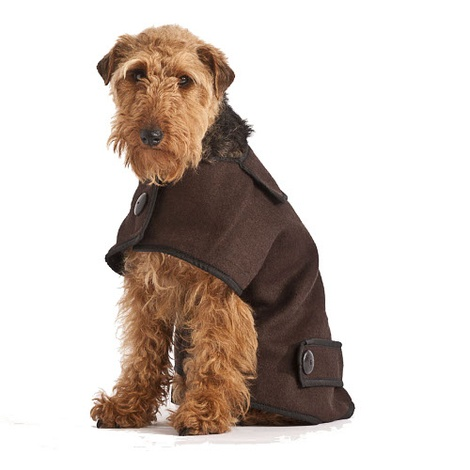 Brown Wool Casual Dog Coat 3