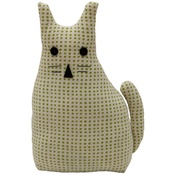 Raine & Humble - Morgan Wright Country Lace Cat Doorstopper Lime