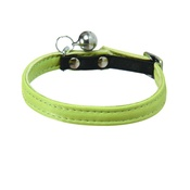 Bobby - Large Escapade Leather Cat Collar – Lime