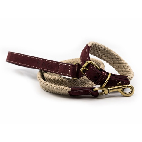 Rope lead (flat) - Burgundy 3