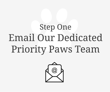 Email our priority Paws team