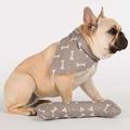 Mushroom Bone Linen Dog Neckerchief 3