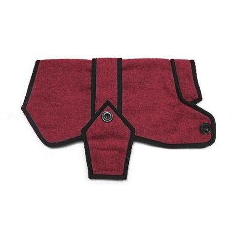 Maroon Wool Blazer Dog Coat 3