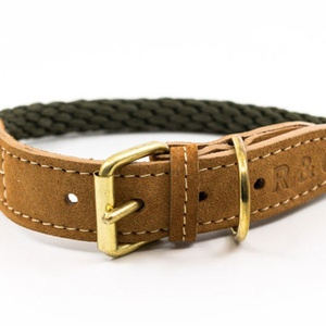 Rope collar (Braided) - Khaki