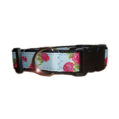Vintage English Rose Dog Collar 4