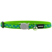 Red Dingo - Red Dingo Patterned Cat Collar - Lime Green/Turquoise