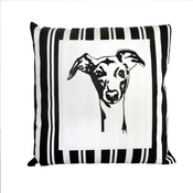 Tomato Catshop - Whippet Butcher Stripe Panel Cushion