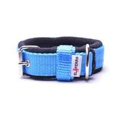 El Perro - 2.5cm width Fleece Comfort Dog Collar – Sky Blue