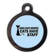 PS Pet Tags - Cats Have Staff Cat Tag - Blue