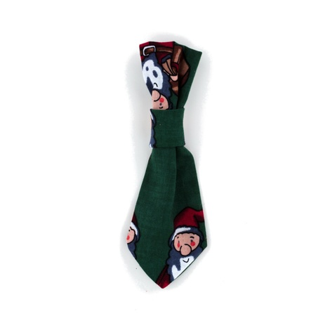 Green Gnomes Dog Tie 2