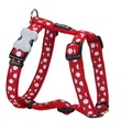 Dog Harness - White Spots on Red