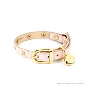 Linny - Baby Pink Crystal Cat Collar
