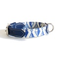 Blue Geo Dog Collar 3