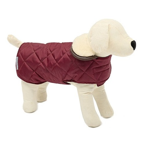 Grape Quilted Dog Coat 3
