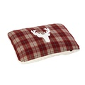 Rustic Tweed Pillow Dog Bed