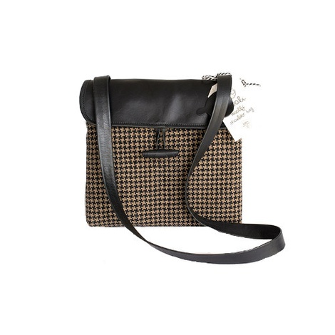 Woolly Bag Classic Houndstooth Cross Body Bag