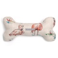 Flamingo Squeaky Bone Dog Toy