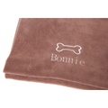 Personalised Chocolate Bone Dog Blanket - Classic font 2