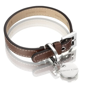 Saffiano Collar – Chocolate Brown
