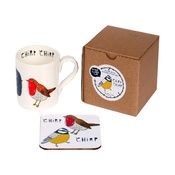 New House Textiles - Chirp Mug and Coaster Gift Set