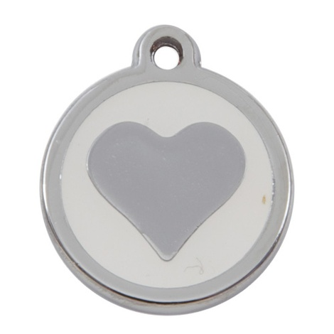 My Sweetie White Heart Pet ID Tag