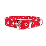 Ditsy Pet - Red Star Dog Collar