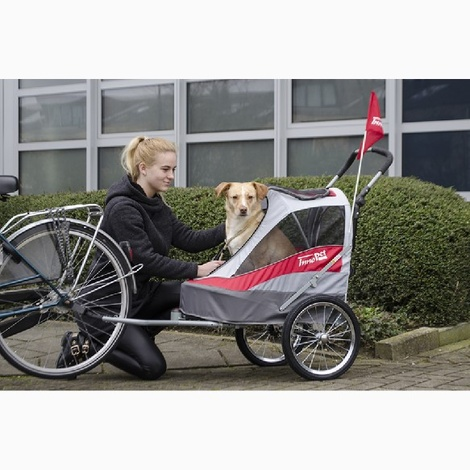 Red/Off White Sporty Dog Trailer DeLuxe 2