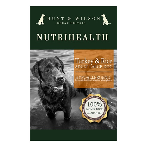 NutriHealth Adult Large Dog Turkey & Rice 12kg 2