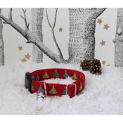 The Spotted Dog Company - Christmas Tree Dog Collar with Christmas Jingle
